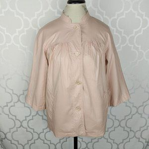Nine West Pink Pearl Coated Cotton Coat